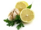 Lemon with garlic