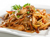 Chicken with Rice Noodles and Vegetables